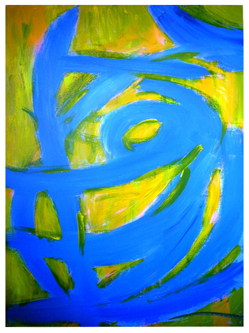 Blue Cyclone original  acrylic on canvas paining by K.M. Kaung